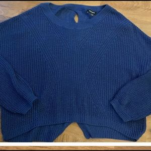 Express. Royal blue slouchy sweater